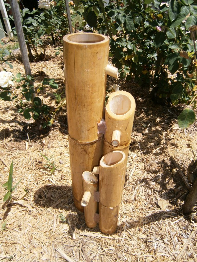 Bamboo australia bamboo water fountains longbows for Bamboo water feature