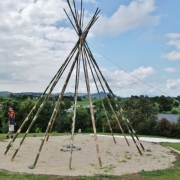 Nomadics Tipi - Bamboo Pole Set Up