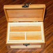 Bamboo Jewellery Boxs Large Inside