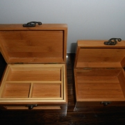Bamboo Jewellery Boxs Small & Large Inside